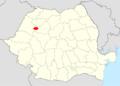 Poloha Huedinu v Rumunssku.png