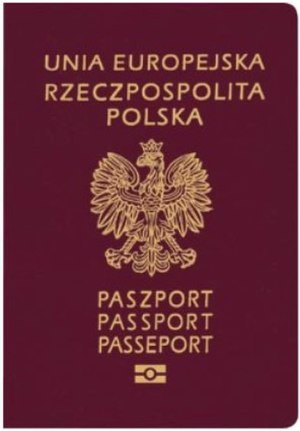Polish passport - The front cover of a contemporary Polish biometric passport