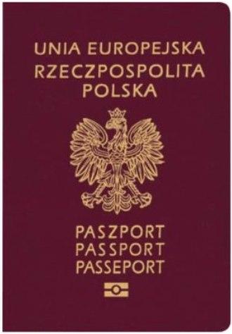 Polish passport - The front cover of a contemporary Polish biometric passport
