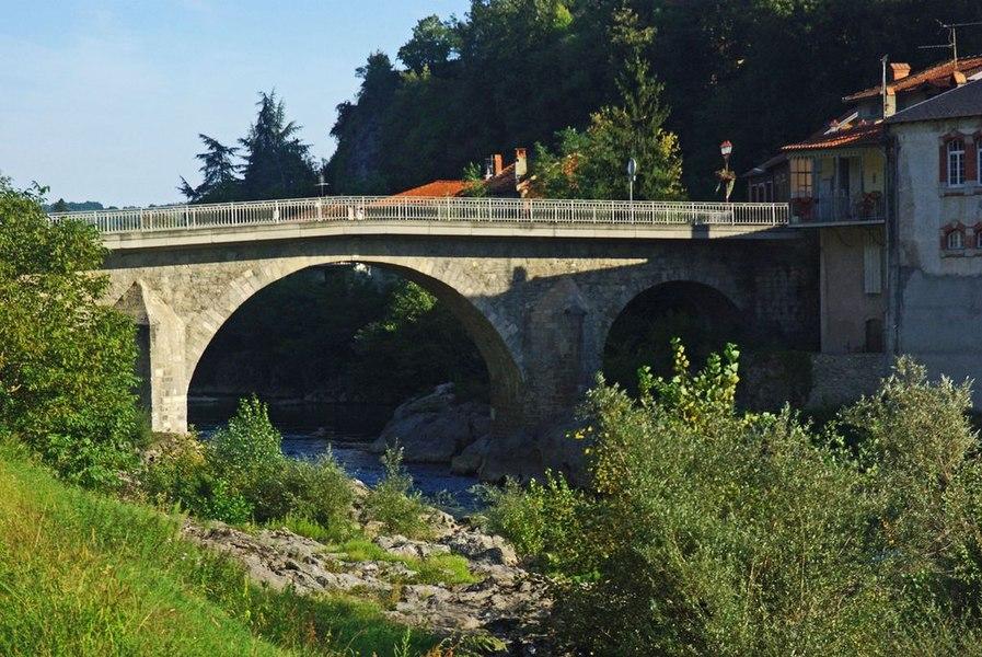 Saint-Lizier (Ariège, France): Le Pont de Saint-Lizier.