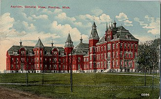 Pontiac, Michigan - The Pontiac State Hospital in 1912