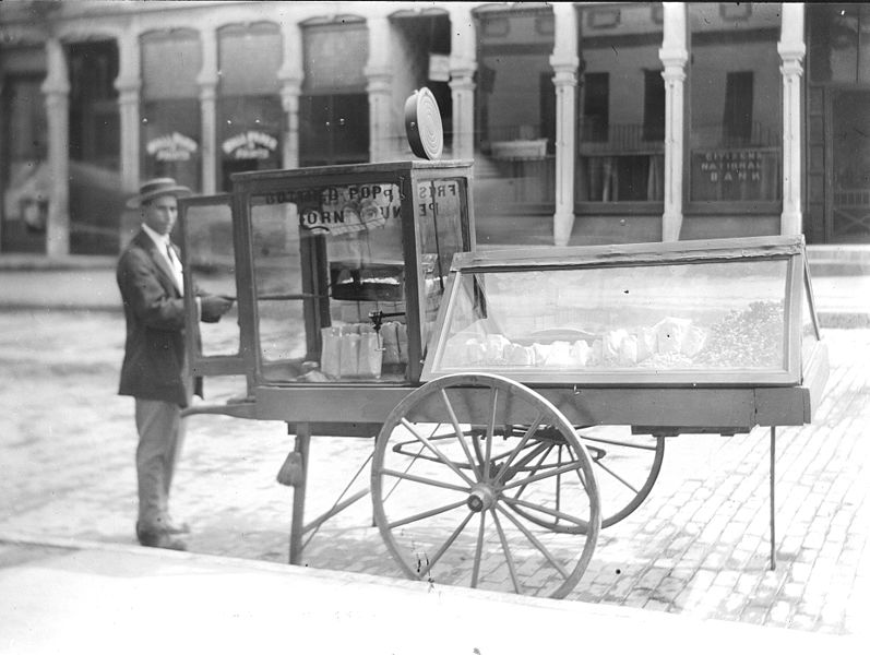 File:Popcorn vendor at Paris- Illinois, August 3- 1912.jpg