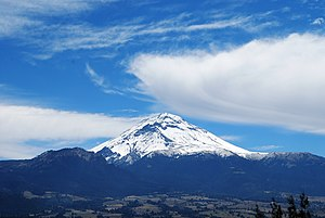 Ozumba - View of Popocatepetl