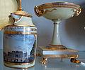 Porcellana di vienna, 1800 circa, servito con vedute di vienna prima della costruzione del ring, lattiera 03.JPG
