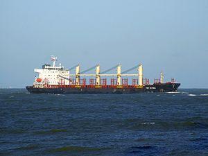 Port Victoria - IMO 9262637 - Callsign V7NZ3 approaching Port of Rotterdam, Holland 14-Jan-2007 photo-1.jpg