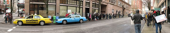 PortlandScientologyProtest15March2008 Panorama04.jpg