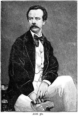 Charles Frederick Worth - Charles Frederick Worth at age 30 – he had already begun to build his reputation in Paris as a designer