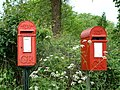 Postbox for letters and bird box - geograph.org.uk - 178208.jpg