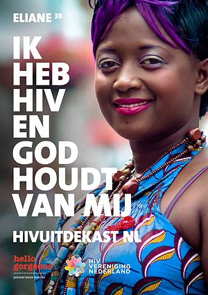 Eliane Becks Nininahazwe - The Dutch World AIDS Day poster featuring Eliane Becks Nininahazwe