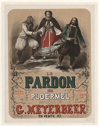 Dinorah - Poster for the premiere depicting Corentin, Dinorah, and Hoël