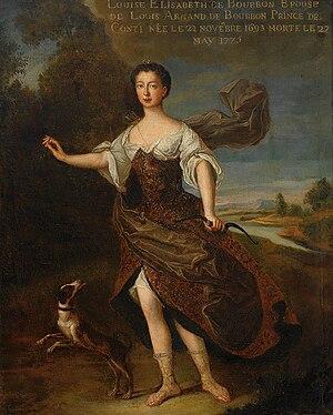 Louise Élisabeth de Bourbon - A posthumous painting of Louise Élisabeth