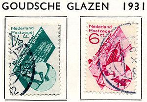 Piet Zwart - Image: Postzegel 1931 goudse glazen