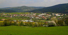 Pozlovice : panorama du village.