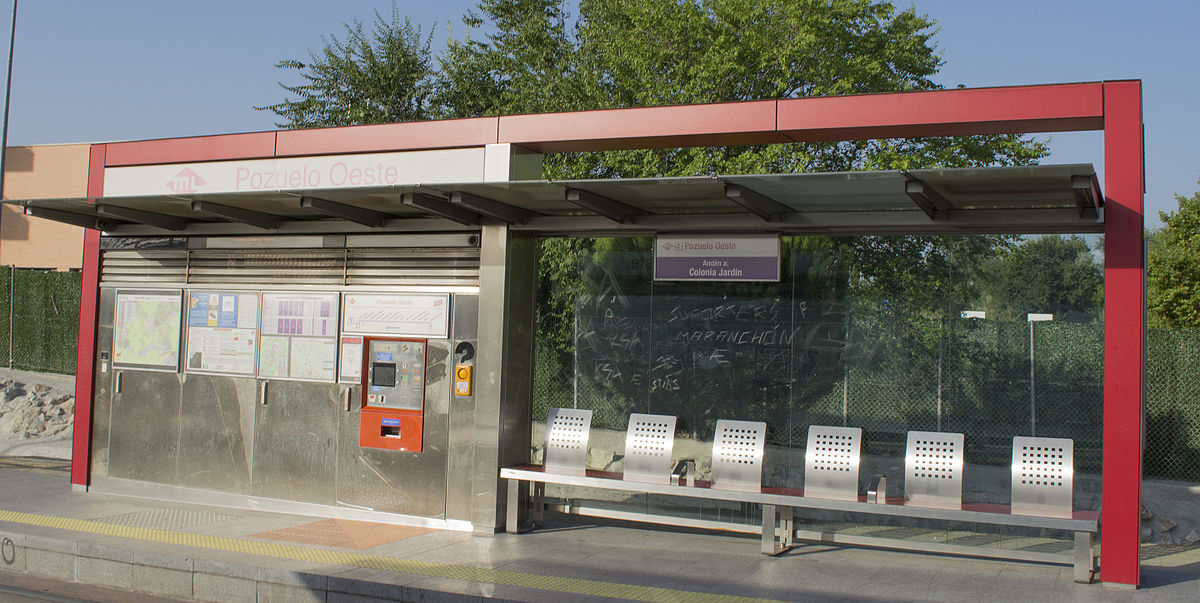 Pozuelo oeste wikidata for Metro ligero colonia jardin