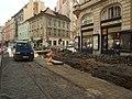 Praha, Nové Město, Myslíkova, rozkopaná ulice.JPG