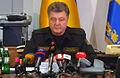President Poroshenko announces ceasefire starting at midnight 15 February 2015.jpg