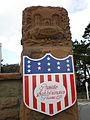 Presidio of SF Arguello Gate post shield.JPG