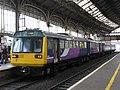 Preston - Arriva 142037+156488 Colne service.JPG