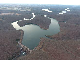 Prettyboy Reservoir - Image: Pretty Boy Dam Water