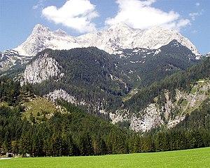 Großer Priel - Großer Priel face, view from Hinterstoder