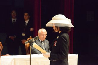 Princess Akiko of Mikasa - Princess Akiko attending the ceremony to commemorate victims of the Frigate Ertuğrul Disaster at Kushimoto Town Cultural Center in Kushimoto, Wakayama, on 3 June 2015