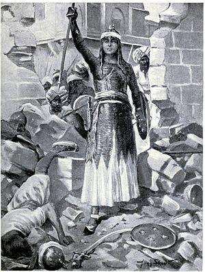 Chand Bibi - Princess Chand Bibi defends Ahmadnagar 1595