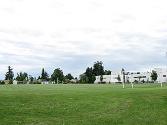 Princess Margaret Secondary School (Surrey) - Image: Princess Margaret Secondary (soccer field 72 Avenue)