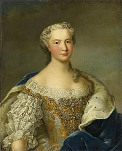 Princess Maria Josepha of Saxony in circa 1744 before becoming Dauphine of France by Klein Daniel.jpg