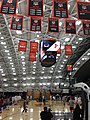 Princeton University banners under rafters at Jadwin Gymnasium 2018.jpg