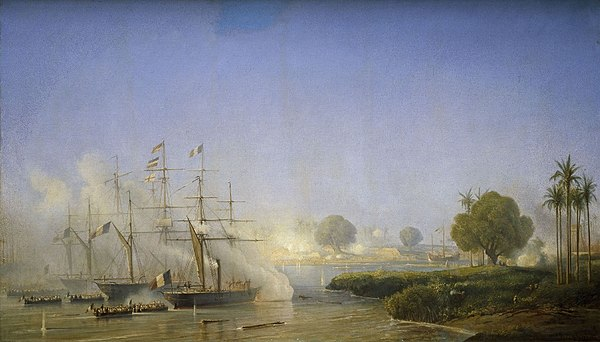 Capture of Saigon by France Prise de Saigon 18 Fevrier 1859 Antoine Morel-Fatio.jpg