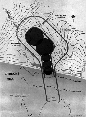 Peaceful nuclear explosion - One of the Chariot schemes involved chaining five thermonuclear devices to create the artificial harbor.