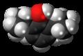 Propofol molecule spacefill.png