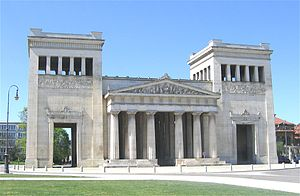 House of Wittelsbach - Propylaea in Munich, monument for the secundogeniture of the Wittelsbach in Greece