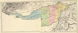 Apure Province - Apure Province in 1840. Map by Agostino Codazzi.