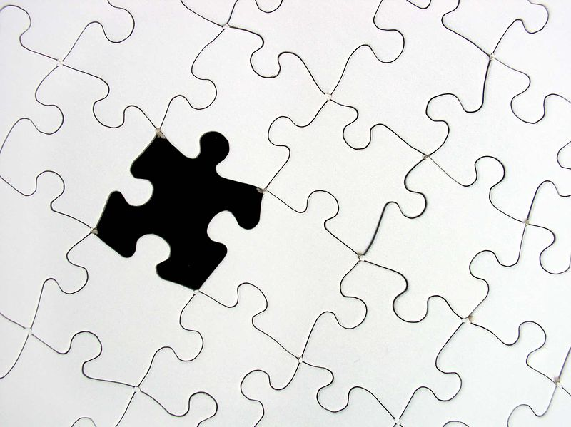 File:Puzzle black-white missing.jpg