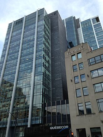 Quebecor - Quebecor headquarters in Downtown Montreal