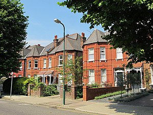 Queen's Park, London - Victorian houses on Chevening Road in Queen's Park, built around 1899.