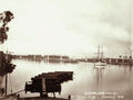 Queensland State Archives 2210 Railway Bridge and twomasted ship at Bundaberg c 1896.png