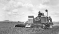 Queensland State Archives 4152 An AutoHeader at work working in a lodged crop J Fleglers Evanslea November 1934.png