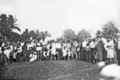 Queensland State Archives 5810 Hon J C Peterson Home Secretary and party with residents of Yarrabah June 1931.png