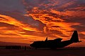 RAF Hercules C-130J at Sunrise in the Falkland Islands MOD 45157600.jpg