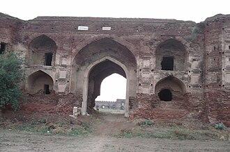 Sirhind-Fategarh - Entrance to the Ramgarh Fort near Sirhind