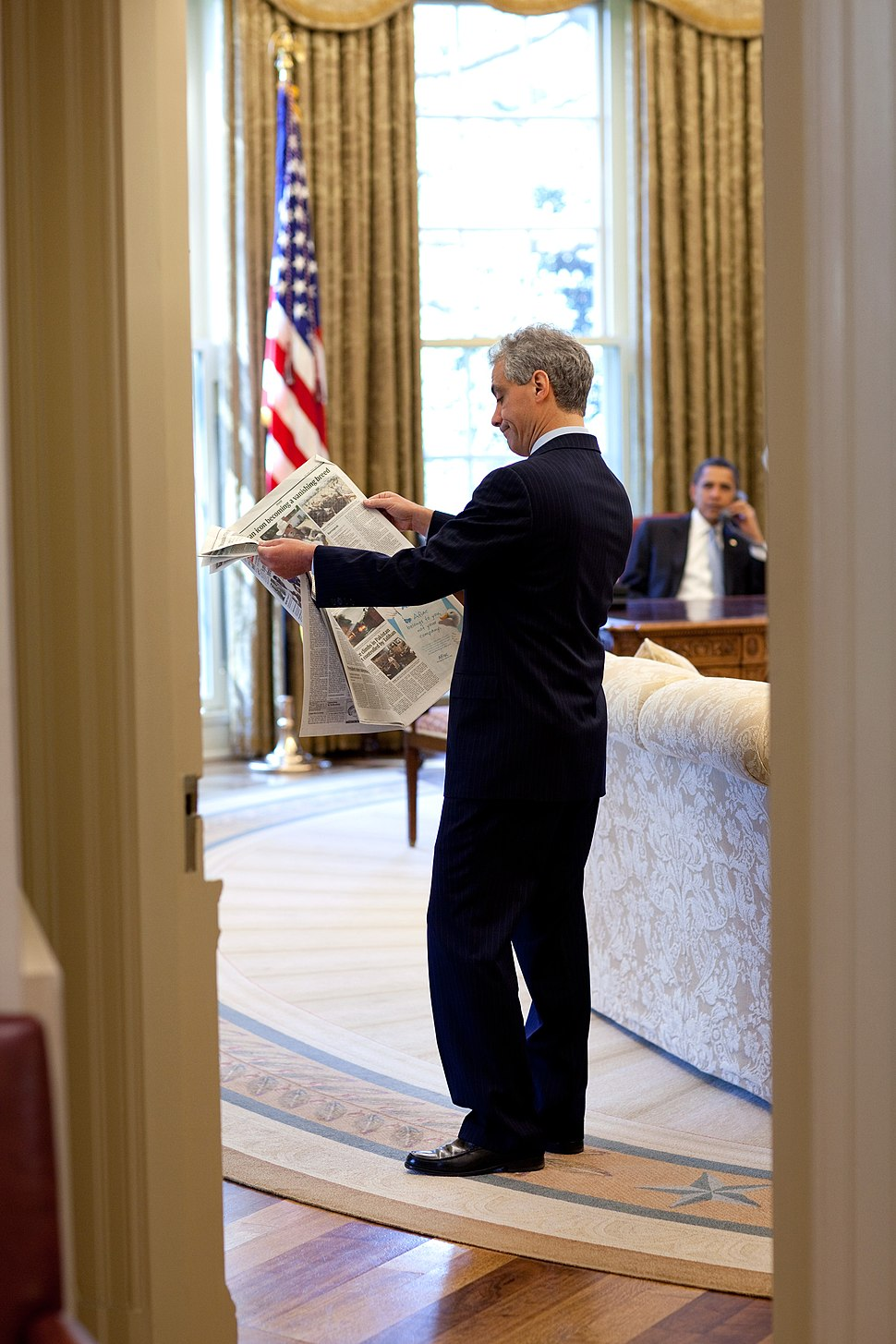 Rahm Emanuel Oval Office Barack Obama