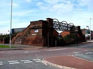 Birkenhead Dock Branch Disused rail line in Wirral, England