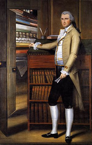 Breeches - Breeches as worn in the United States in the late 18th century: Elijah Boardman by Ralph Earl, 1789.