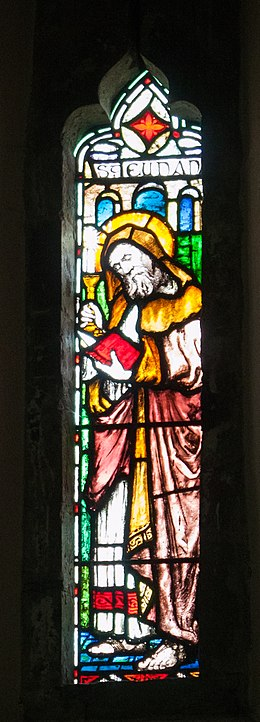 Raphoe Cathedral Church of St. Eunan Choir Window W02 Saint Eunan II 2016 09 02.jpg