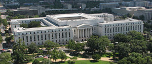 Rayburn House Office Building - View of Rayburn Office from United States Capitol dome.