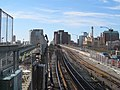Realigned Red Line tracks on Longfellow Bridge, March 2016.JPG