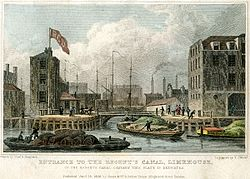 https://upload.wikimedia.org/wikipedia/commons/thumb/c/ce/Regents_canal_dock_1828.jpg/250px-Regents_canal_dock_1828.jpg