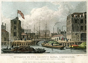 Limehouse Basin - The Regent's Canal Dock, 1828